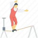 acrobatic, circus, funambulism, juggler, tightrope walker icon