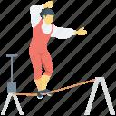 acrobatic, circus, funambulism, juggler, tightrope walker