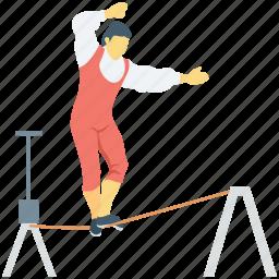 acrobatic, circus, funambulism, juggler, tightrope walker icon