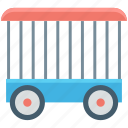 cage, circus cage, circus trolley, circus cart, circus wagon