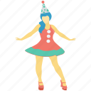 cheerleader, woman, circus, avatar, performer