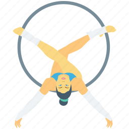 circus, cyr wheel, german wheel, performance, ring wheel icon