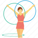 circus, cyr wheel, german wheel, performance, ring wheel icon