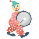 drum, drumbeat, joker, music, trommel icon