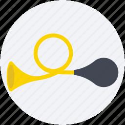 air horn, circus trumpet, clown blaster, clown horn, instrument icon