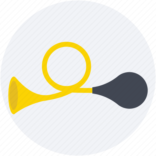 air horn, circus trumpet, clown blaster, clown horn, instrument icon