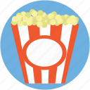 kettle corn, popcorn, popcorn box, popcorn tin, popping corn icon