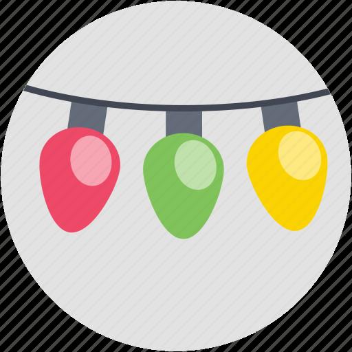 bokeh, bulbs, decoration lights, illumination, lights icon