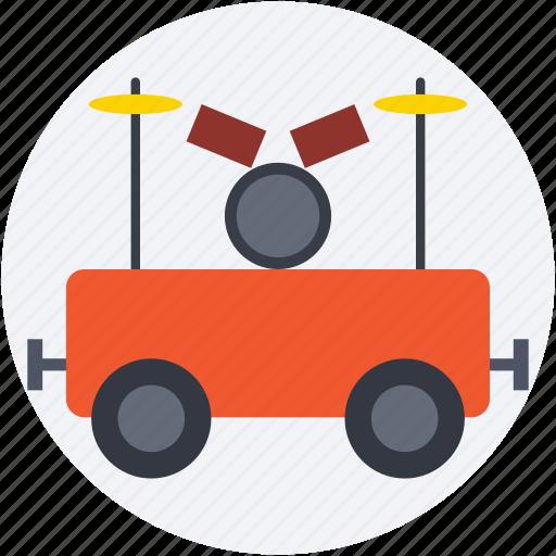 circus car, circus cart, circus trolley, parade car, train car icon