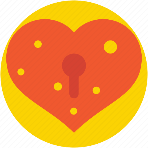 heart, heart lock, keyhole, love, secret feelings icon