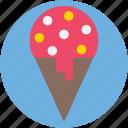 cake cone, cone, ice cone, ice cream, snow cone
