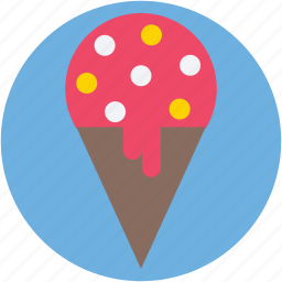 cake cone, cone, ice cone, ice cream, snow cone icon