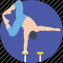 acrobatic, circus arts, gymnast, hand balancing, performer icon