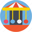 amusement park, fair ride, fun, leisure activity, motion ride icon