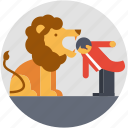 circus lion, circus trick, enjoyment, entertainment, performance icon