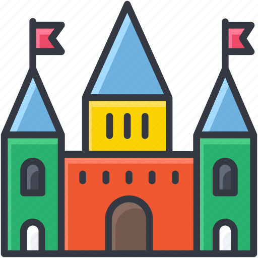 building, carnival, circus, circus house, fairground icon