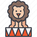 animal, circus animal, circus lion, lion taming, performance icon