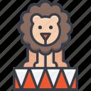 animal, circus animal, circus lion, lion taming, performance icon