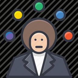 circus, juggling, juggling balls, juggling clown, performance icon