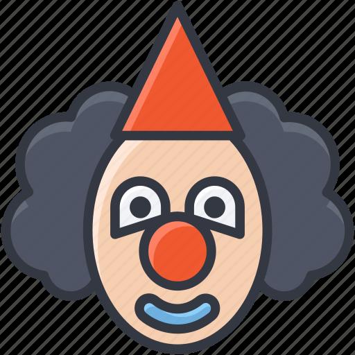 buffoon, clown, jester, joker, joker face icon