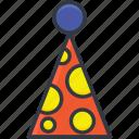 birthday cap, birthday cone hat, cone hat, party cap, party cone hat
