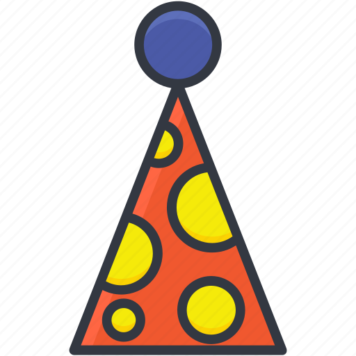 birthday cap, birthday cone hat, cone hat, party cap, party cone hat icon