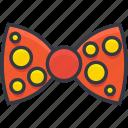 bow, bowtie, clown bowtie, costume, ribbon bow