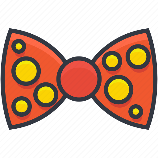 bow, bowtie, clown bowtie, costume, ribbon bow icon