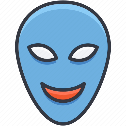 carnival mask, costume mask, face mask, party mask, theater mask icon