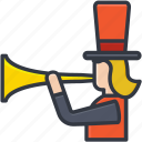 bullhorn, clown shouting, jester, joker, megaphone icon