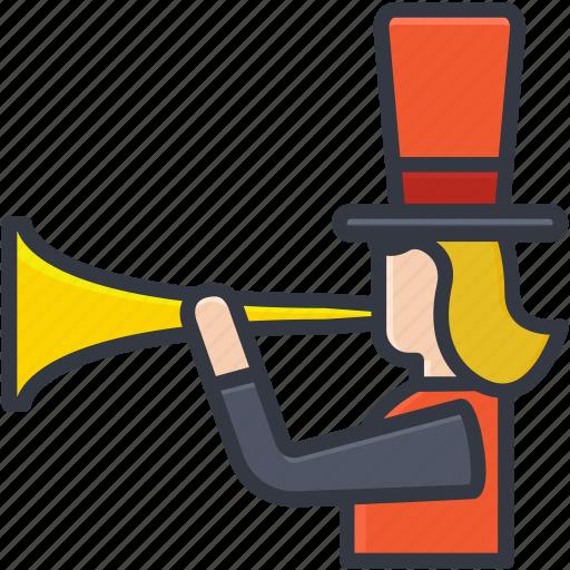 bullhorn, clown shouting, jester, joker, megaphone icon