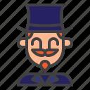 magician, circus, actor, hat
