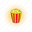 cinema, comics, corn, crunch, fun, movie, popcorn icon