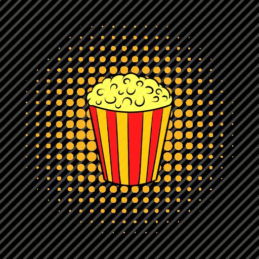 cinema, comics, corn, crunch, fun, movie, popcorn icon