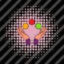 arm, ball, balls, comics, fingers, handshake, juggling