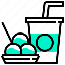beverage, fastfood, food, soda, takoyaki icon