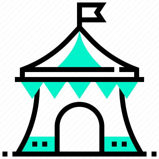 Circus, fair, show, tent icon - Download on Iconfinder