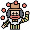 circus, clown, entertainer, funny, juggling