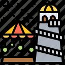 amusement, carousel, fairground, park, tower