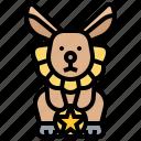 circus, costumed, cute, rabbit, show