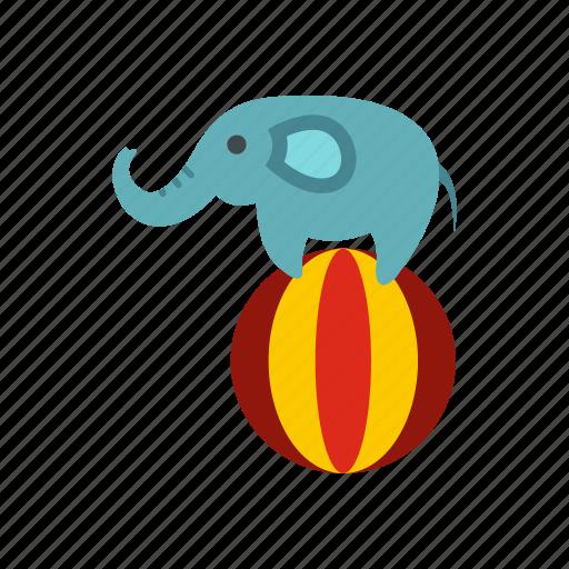 africa, animal, balance, ball, circus, elephant, wildlife icon