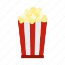 crispy, eat, food, fried, overlay, packaging, popcorn icon