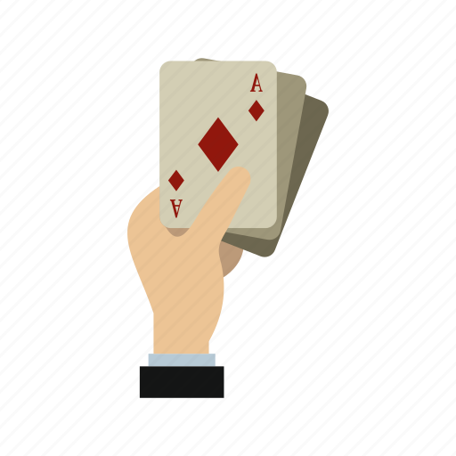 ace, cards, game, hand, holding, playing, poker icon