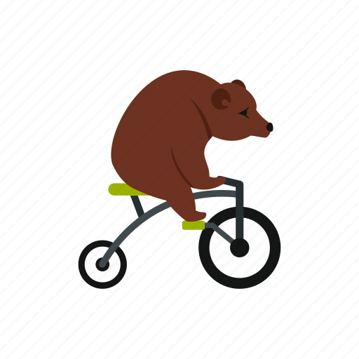 Animal, bear, bicycle, bike, cycle, fun, funny icon - Download on Iconfinder