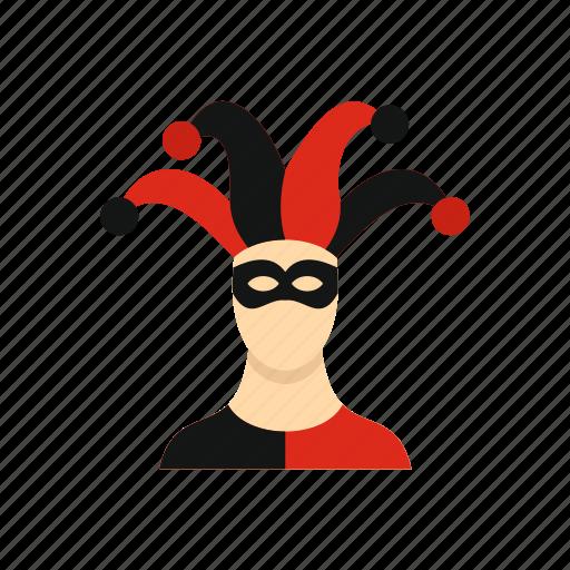 bell, cap, carnival, costume, fool, humor, jester icon