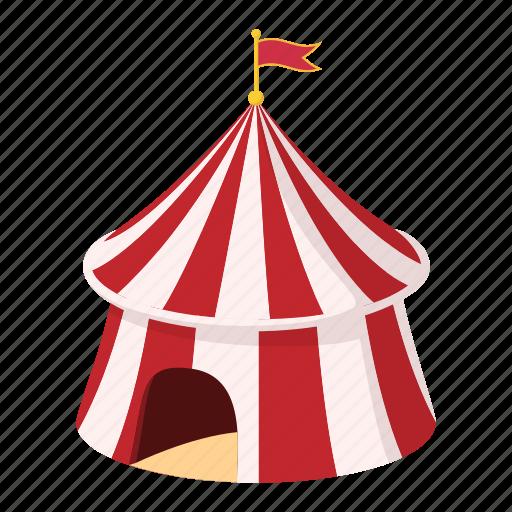 arena, cartoon, entertainment, festival, flag, show, tent icon
