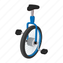 bicycle, cartoon, circus, pedal, sport, unicycle, wheel icon