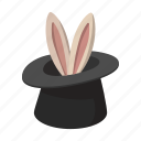 bunny, cartoon, hat, illusion, magic, rabbit, trick icon