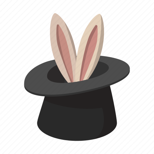 bunny, cartoon, hat, illusion, magic, rabbit, trick icon