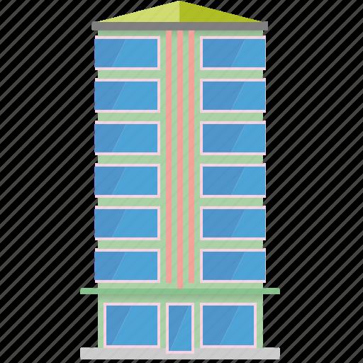 apartment, building, city, condominium, highrise, homes, tower icon